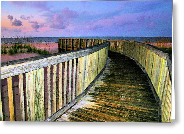 Oats Digital Greeting Cards - Pink Sands Greeting Card by Kristin Elmquist