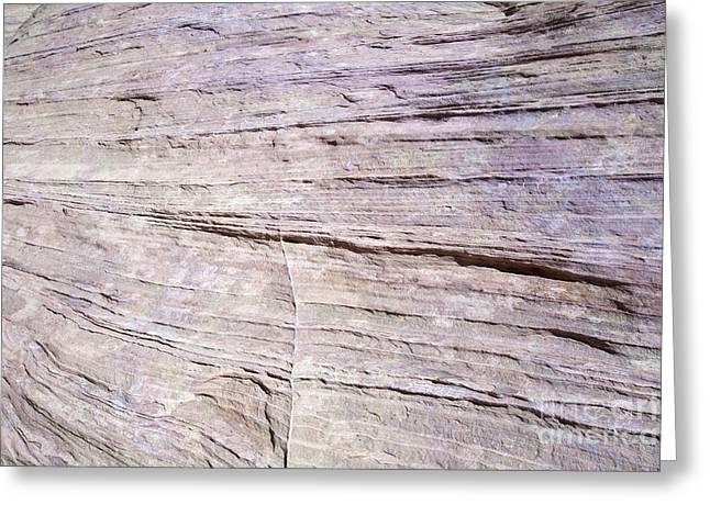 Geology Photographs Greeting Cards - Pink Sandstone Greeting Card by Karen Foley