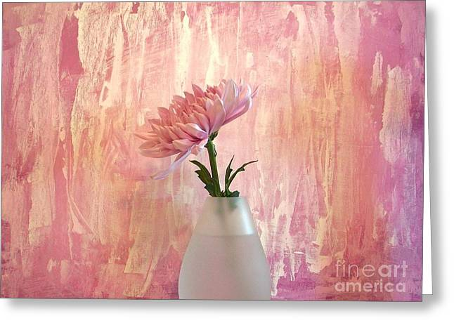 Botony Greeting Cards - Pink Silk Greeting Card by Marsha Heiken