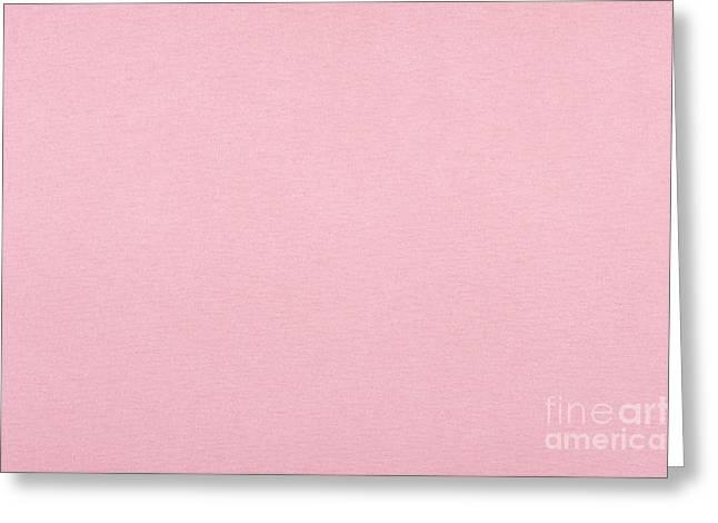 Pink Smooth Cardboard Texture Greeting Card by Arletta Cwalina