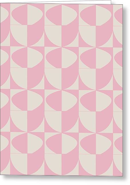 Stack Pastels Greeting Cards - Pink Stacked Cups Greeting Card by Sandi Hauanio