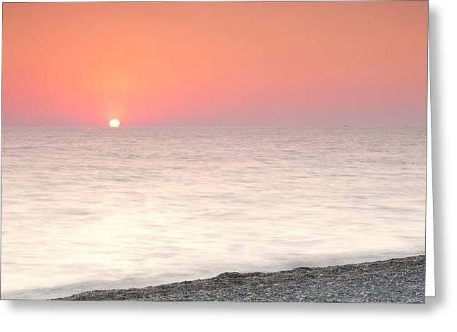 Interior Still Life Greeting Cards - Pink Sunrise Greeting Card by Natalia Otrakovskaya