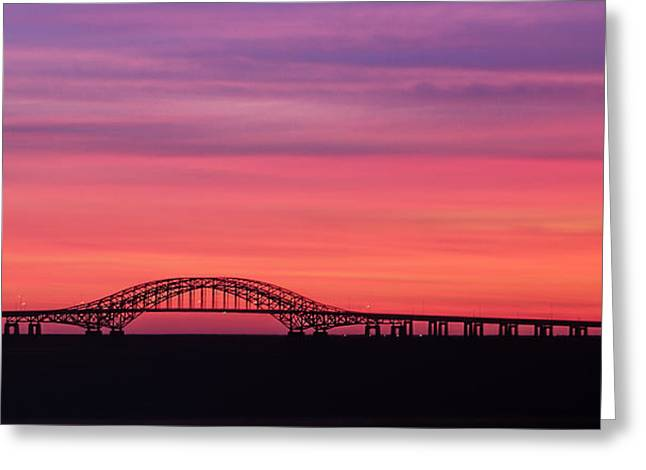 Robert Moses Greeting Cards - Pink Sunrise Greeting Card by Vicki Jauron