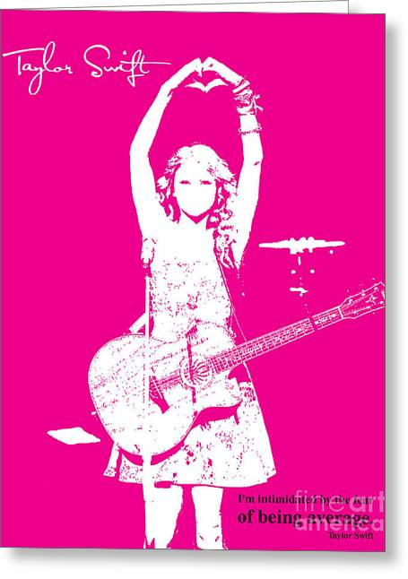 Guitar Player Mixed Media Greeting Cards - Pink Taylor Greeting Card by Pablo Franchi