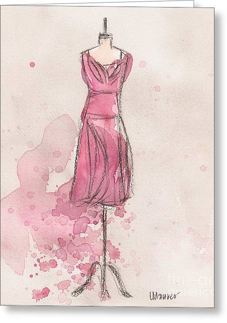 Loose Greeting Cards - Pink Tulip Dress Greeting Card by Lauren Maurer