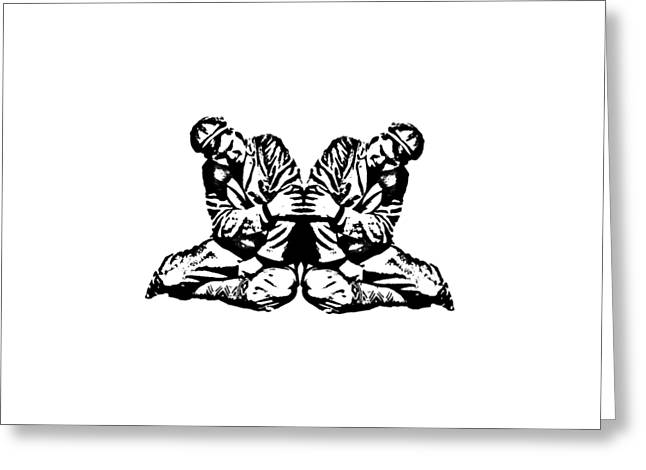 Pinky Greeting Cards - Pinky Swear Graphic Greeting Card by Edward Fielding