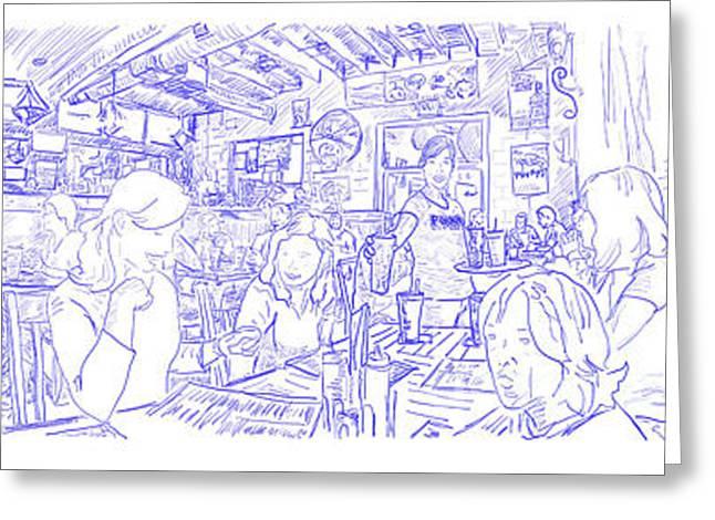 Pinkys Sketch I Greeting Card by Robert Yaeger