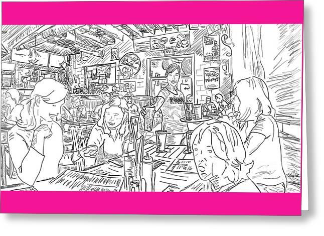 Pinkys Westside Greeting Card by Robert Yaeger