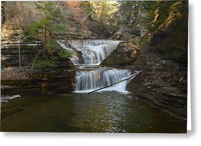 Buttermilk Falls Greeting Cards - Pinnacle Pair Greeting Card by Linda Wyatt