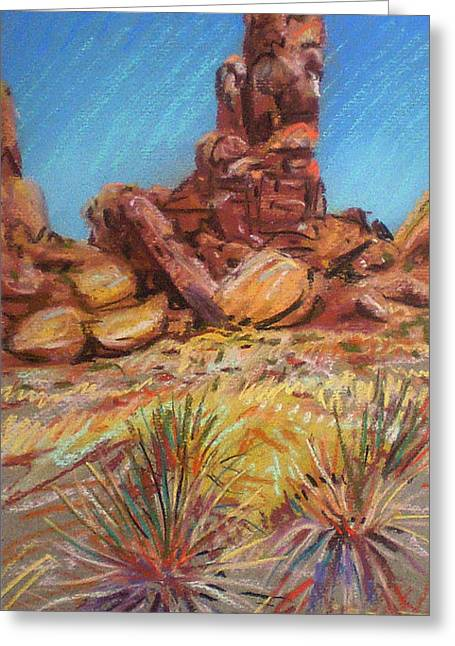 Pinnacle Greeting Cards - Pinnacle Rock Greeting Card by Donald Maier