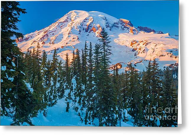 Geology Photographs Greeting Cards - Pinnacle Saddle Winter Greeting Card by Inge Johnsson