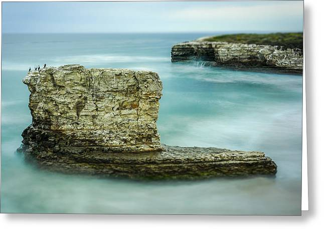 Lanscape Greeting Cards - Pinnacle  Greeting Card by Steve Spiliotopoulos