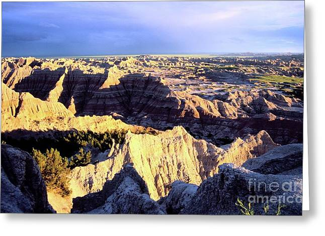 Oglala Greeting Cards - Pinnacles Sunset Greeting Card by Chris  Brewington Photography LLC