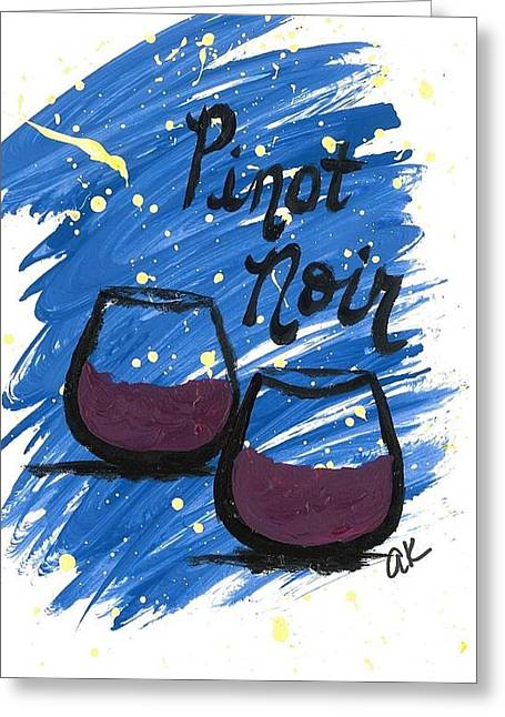 Pinot Noir Mixed Media Greeting Cards - Pinot Noir Greeting Card by Alyson Appleton