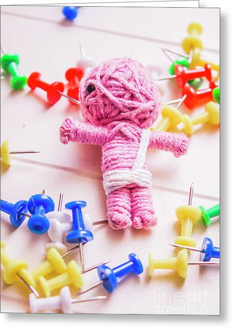Pins And Needles Mummy Voodoo Doll Greeting Card by Jorgo Photography - Wall Art Gallery