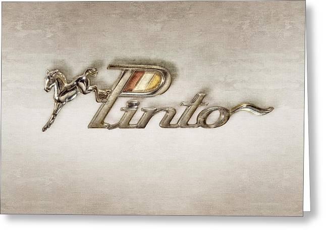 Pinto Car Badge Greeting Card by YoPedro