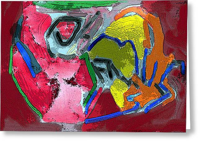 Fineart Pastels Greeting Cards - Pintura moderna 1 Greeting Card by Carlos Camus