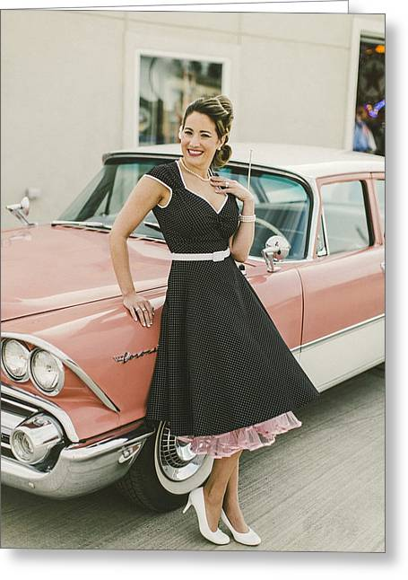 Stp Greeting Cards - Pinup Greeting Card by T S Sell