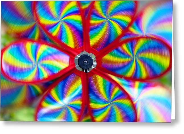 pinwheel Greeting Card by Michal Boubin