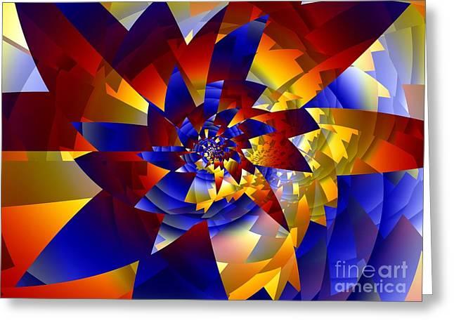 Pinwheel Greeting Card by Ron Bissett
