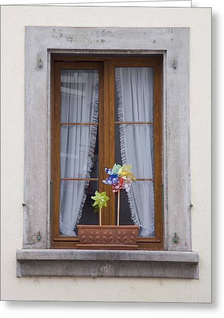 Swiss Photographs Greeting Cards - Pinwheels Will Do Greeting Card by Colleen Williams