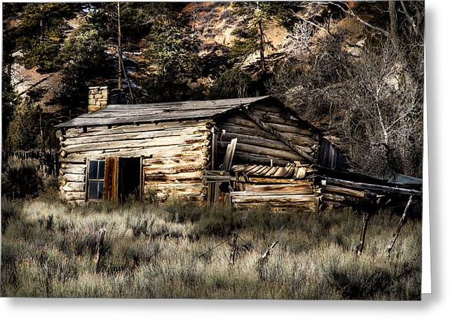 Southern Utah Greeting Cards - Pioneer cabin Greeting Card by Ron Broad