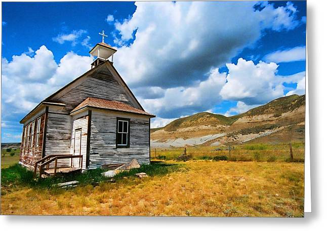 Pioneer Church 1 Greeting Card by Lawrence Christopher