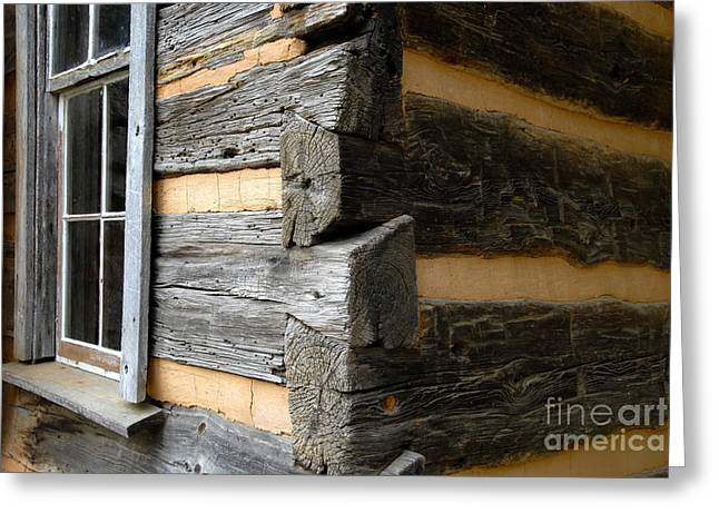 Cabin Window Greeting Cards - Pioneer Craftsmanship Greeting Card by David Lee Thompson