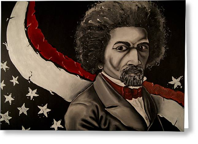 Frederick Douglass Greeting Cards - Pioneer of Fredom Greeting Card by David Marion Green
