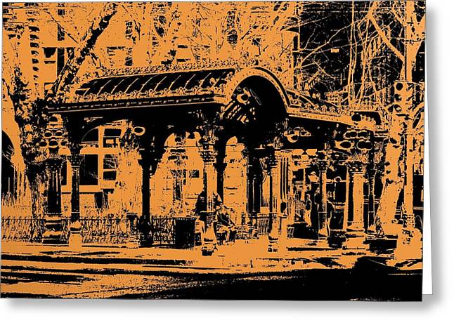 Pioneer Square Pergola Greeting Card by Tim Allen
