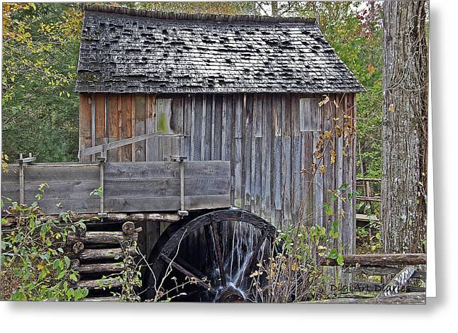 Tennessee Landmark Digital Greeting Cards - Pioneer Water Mill Greeting Card by DigiArt Diaries by Vicky B Fuller