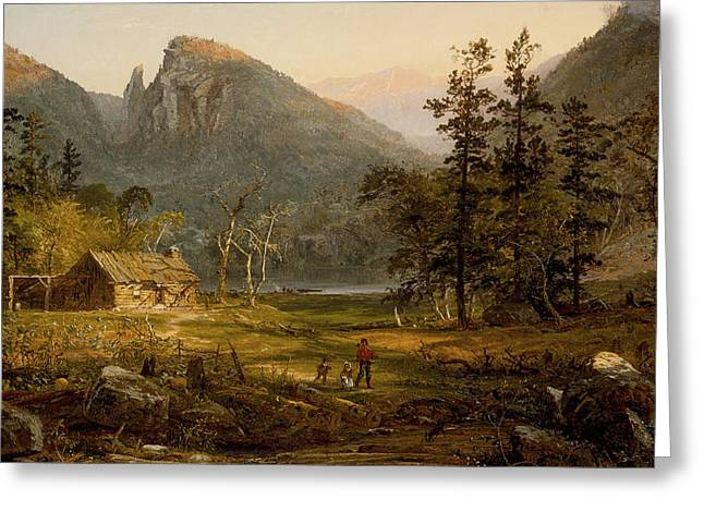 Destiny Photographs Greeting Cards - Pioneers Home Eagle Cliff  White Mountains Greeting Card by Jasper Francis Cropsey