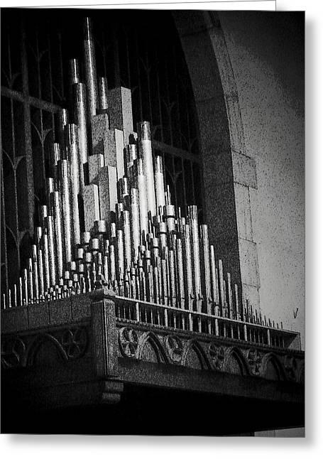 Pipe Organ Greeting Cards - Pipe Organ Greeting Card by Michael L Kimble