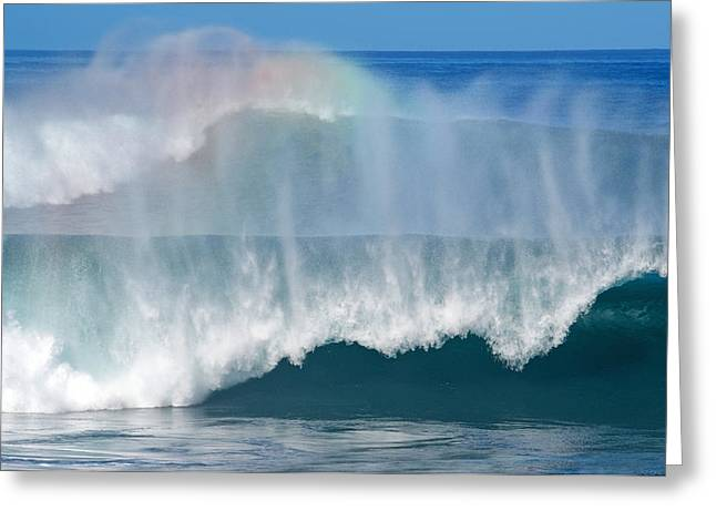 Banzai Pipeline Greeting Cards - Pipeline Rainbow Greeting Card by Kevin Smith