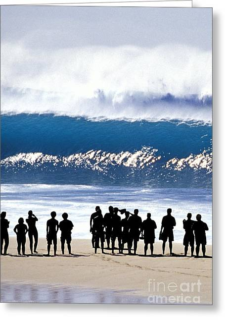 Pipeline Shadowland - 1 Of 3 Greeting Card by Sean Davey