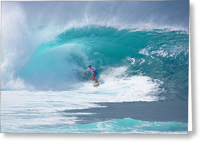 Banzai Pipeline Greeting Cards - Pipelines Reef Greeting Card by Kevin Smith