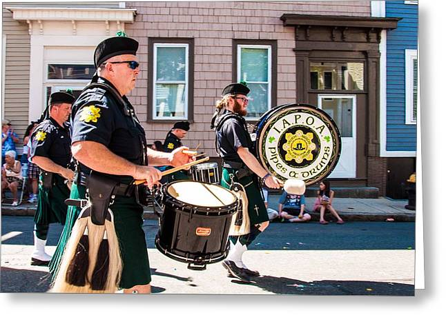 March Greeting Cards - Pipes and Drums Greeting Card by Karen Regan