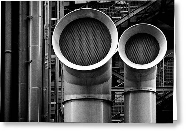 Pipes Greeting Card by Dave Bowman