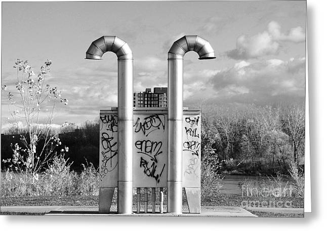 Verdun Greeting Cards - Pipes On the River Greeting Card by Reb Frost