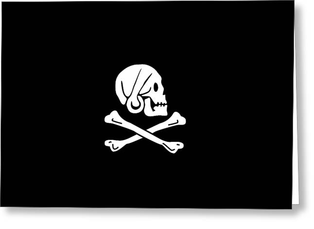 Pirate Flag Of Henry Every Tee Greeting Card by Edward Fielding