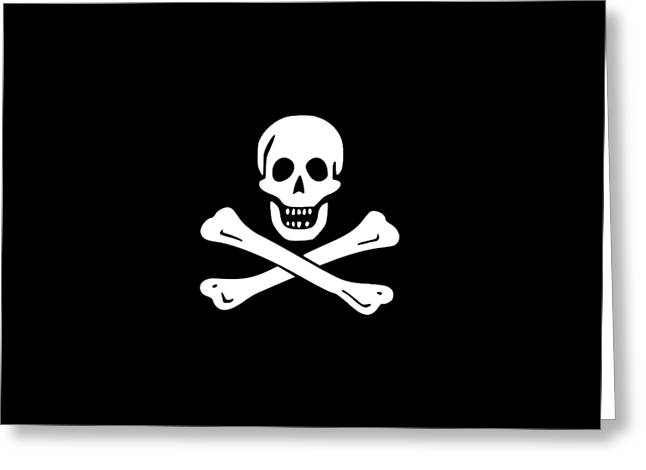 Pirate Flag Tee Greeting Card by Edward Fielding