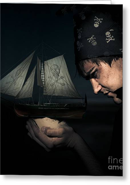 Pirate Greeting Card by Jorgo Photography - Wall Art Gallery