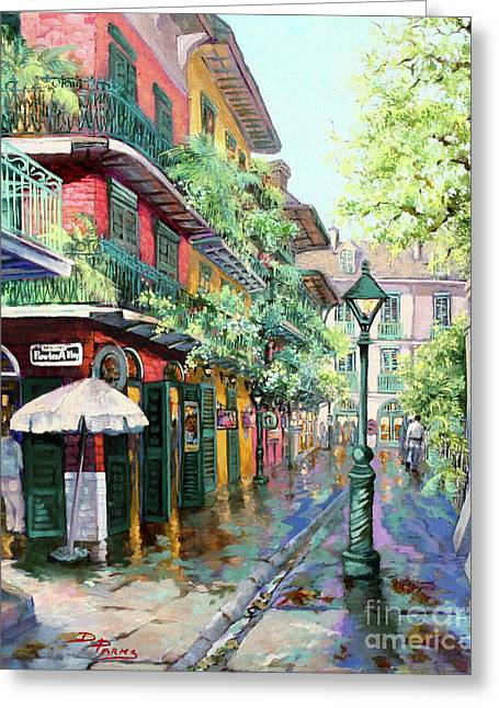 Quarter Greeting Cards - Pirates Alley Greeting Card by Dianne Parks