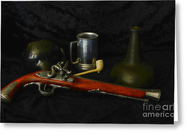 Flintlock Greeting Cards - Pirates and their Vices Greeting Card by Paul Ward