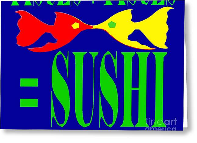 Decorative Fish Greeting Cards - Pisces Greeting Card by Patrick J Murphy