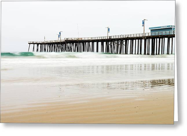 Pismo Beach Pier Greeting Card by Priya Ghose
