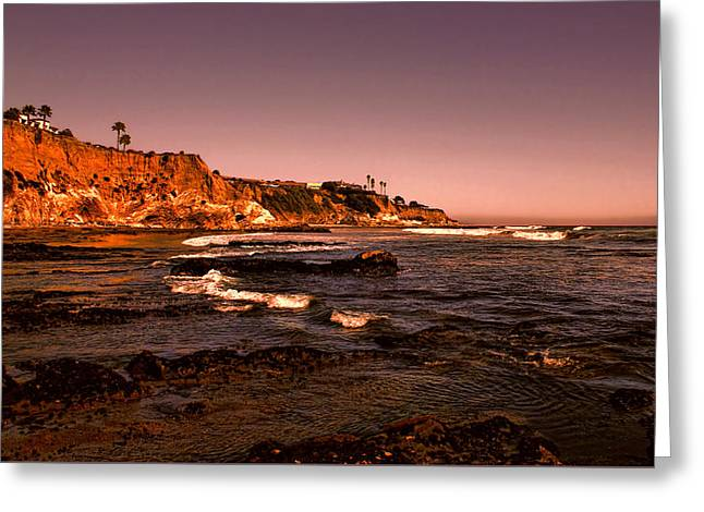 California Ocean Photography Greeting Cards - Pismo Beach Sunset Greeting Card by Judy Vincent