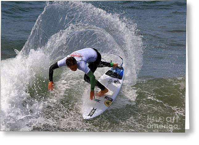 Wipe Out Greeting Cards - Pismo Beach Surfing Contest 25 Greeting Card by Craig Corwin