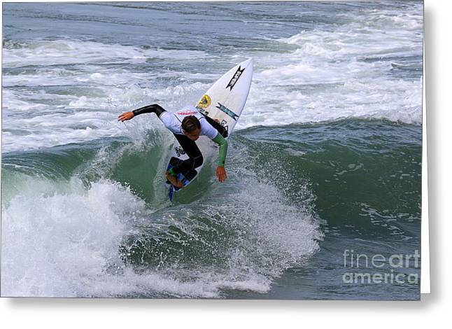 Cut-outs Greeting Cards - Pismo Beach Surfing Contest 26 Greeting Card by Craig Corwin