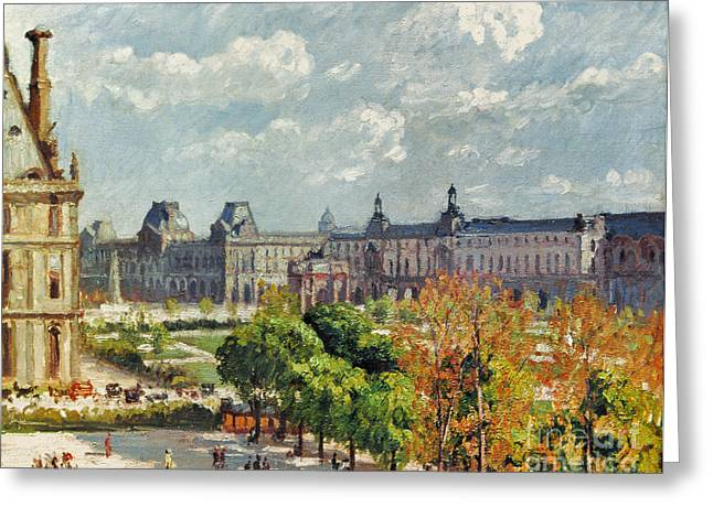 Camille Pissarro Photographs Greeting Cards - Pissarro: Carrousel, 1900 Greeting Card by Granger